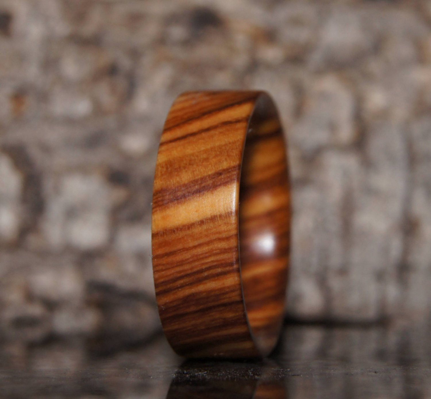Olive wood ring US size 6,5