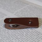 Leather keychain, key holder, holds 1-4 regular keys