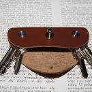 Leather key holder, Holds 1-6 regular keys, Stainless steel bolts