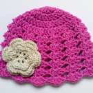 Crochet Baby Hat, Summer, 100% Cotton