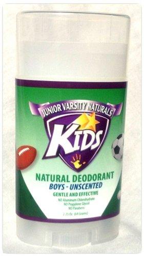 junior varsity naturals kids deodorant boys unscented