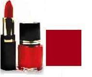 Lipstick/ Nail Polish Combo - Deep Red