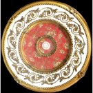 31.5&quot; Gold White with Red Pattern Ceiling Medallion