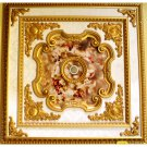 63&quot;x63&quot; Red Cherubs Square Ceiling Medallion