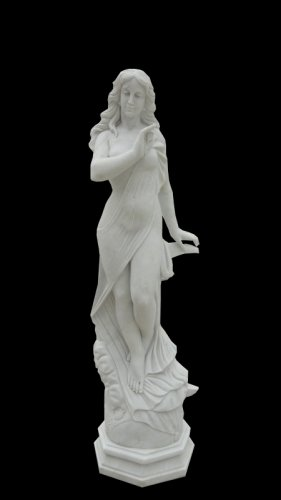 "Beautiful Hand Carved White Marble 30"" Statue"