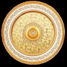 Round With Gold Pattern Insert Ceiling Medallion 63&quot;