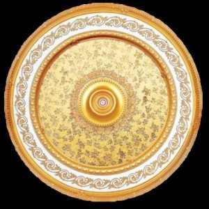 """Round With Gold Pattern Insert Ceiling Medallion 63"""""""