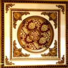 Red with Gold Floral Ceiling Medallion Square 39&quot;x39&quot;