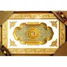 "Unique Gold Petals Ceiling Medallion High Quality Rectangular 47""x71"""