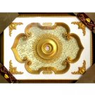 "Gold Floral Ceiling Medallion Home Decor High Quality Rectangular 47""x63"""