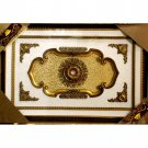 "Rectangular with Gold Leaves Ceiling Medallion 47""x71"""
