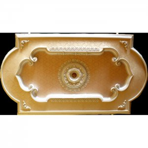 "Ceiling Medallion Rectangular with Damask Effect 51""x94"""