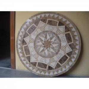 """Waterjet Marble Floor/Wall Medallion 36"""" Granite Back"""
