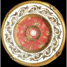 Gold/White w/ Red Pattern Insert Ceiling Medallion  Round 31""