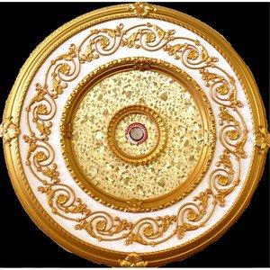 """Gold Specks On Gold insert Decor Ceiling Medallion 51"""""""