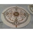 "Decor Waterjet Cut Marble Floor/Wall Medallion 60"" Round Granite Back"