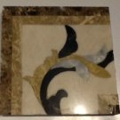 "Floor/Wall Decor Water Jet Cut Marble Corner 4""x4""x10mm"