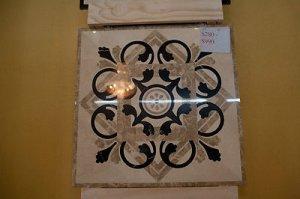 "Home Decor Waterjet Cut Marble Floor/Wall Medallion Square 48"" Granite Back"