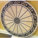 "Waterjet Marble Floor Medallion 48"" Granite Back"