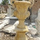 Pair of Travertine Marble Urns Planter 55&quot;