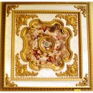 Red Cherubs Ceiling Medallion Square 63 inches New