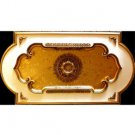 Decor Ceiling Medallion Rectangular with Gold Leaves