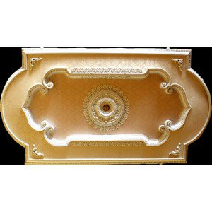 Decor Ceiling Medallion Rectangular with Damask Effect Insert