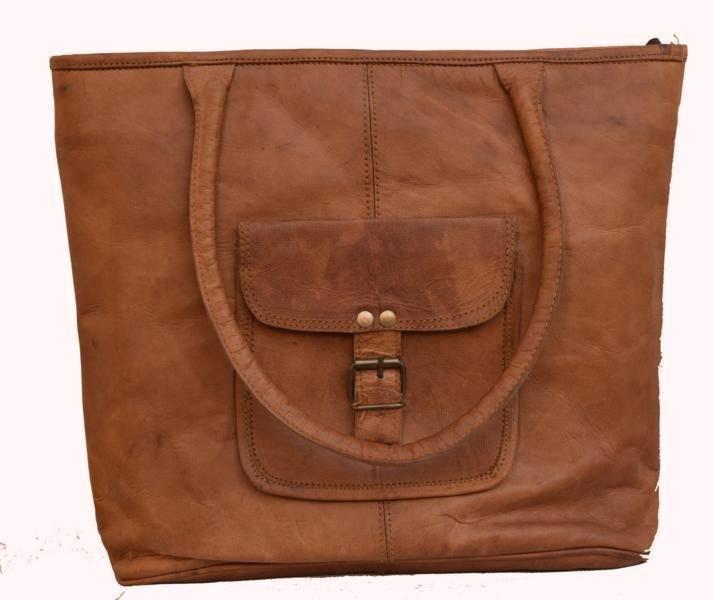 Classic Original Handmade Leather Bag, Unisex Woman Ladies Handbag Carry Bag#161