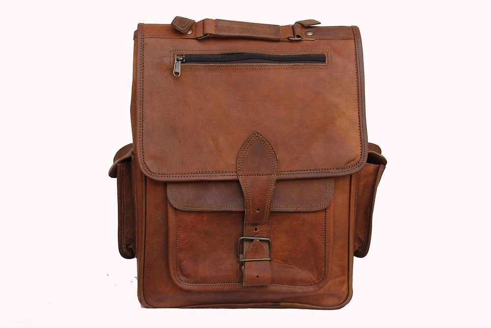 Men's Genuine Leather Messenger Laptop Bag Office School Books Bag Handmade #130