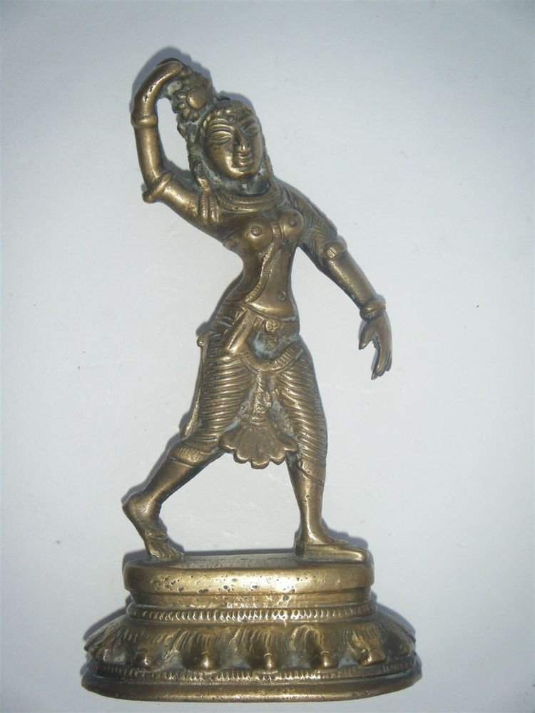 Antique Vintage Brass Metal Lady, Decorative Dancing Collectible Lady India #881