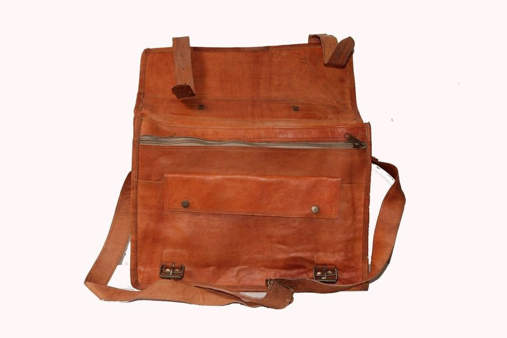 Goat Leather Bag Original Leather Laptop Messenger Shoulder Cross Bag #102