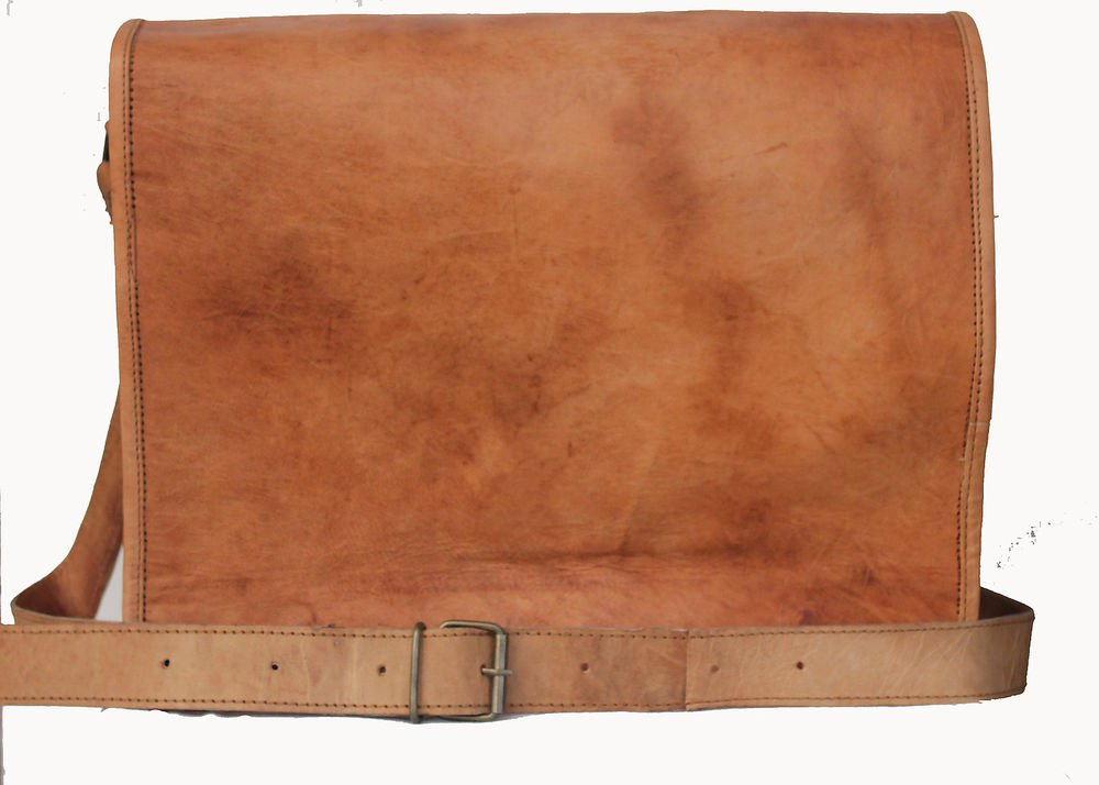 """13"""" Stylish Handmade Real Leather Bag, Unisex Laptop Corporate Office Bags #170"""