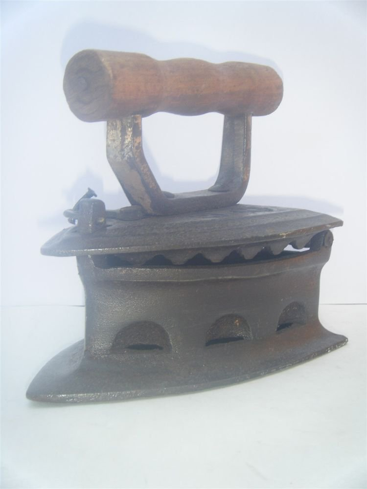 1920s IRON Old Vintage Working Press Collectible with Wood Handle Rare #1118