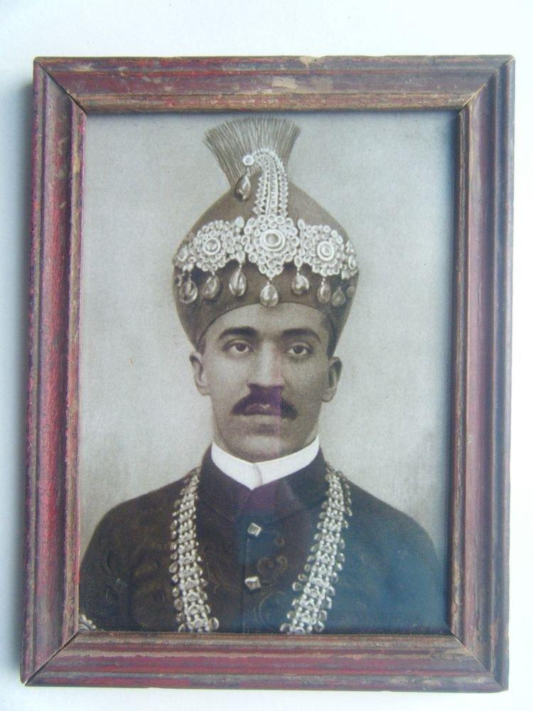 Indian Nizam Rare Framed Photograph, Vintage Photo in Old Wooden Frame #2683