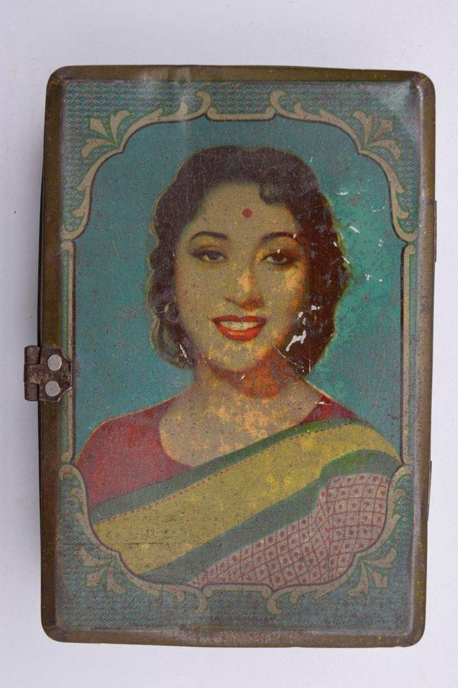 Old Sweets Tin Box, Rare Collectible Litho Printed Tin Boxes India #1466