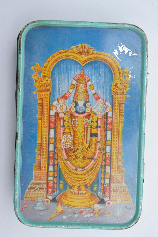 Old Sweets Tin Box, Rare Collectible Litho Printed Tin Boxes India #1463