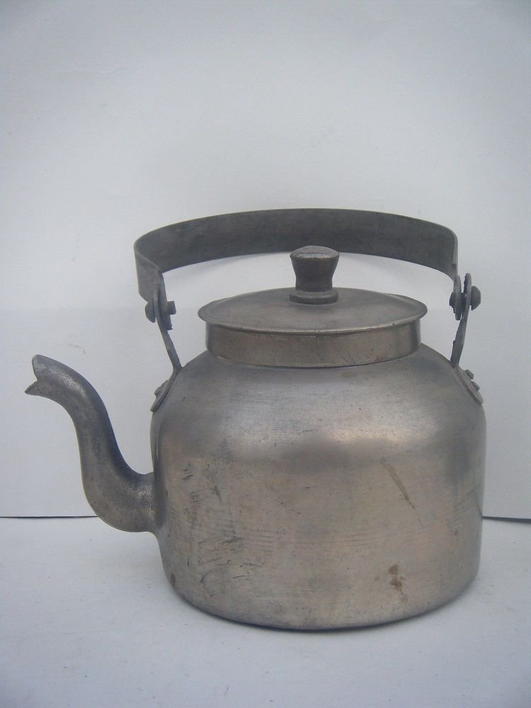 Brass Kettle Rare Old Original Tea Pot Collectible India Metal Antique #997