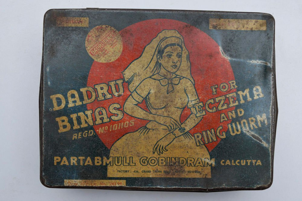 Old Sweets Tin Box, Rare Collectible Litho Printed Tin Boxes India #1472
