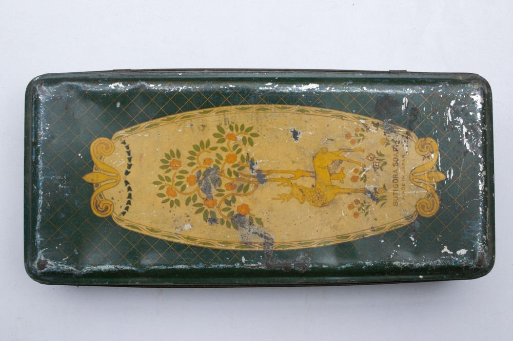 Old Sweets Tin Box, Rare Collectible Litho Printed Tin Boxes India #1488