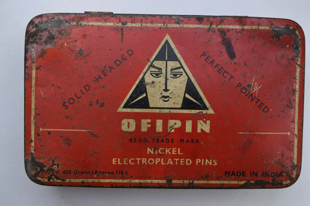 Old Sweets Tin Box, Rare Collectible Litho Printed Tin Boxes India #1496