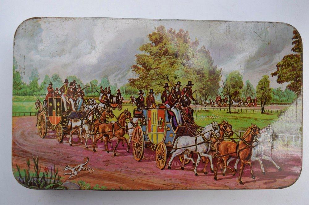 Old Sweets Tin Box, Rare Collectible Litho Printed Tin Boxes India #1497