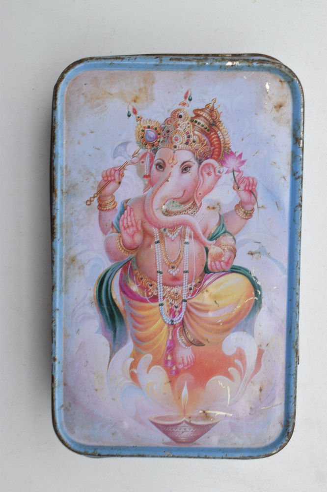 Old Sweets Tin Box, Rare Collectible Litho Printed Tin Boxes India #1394