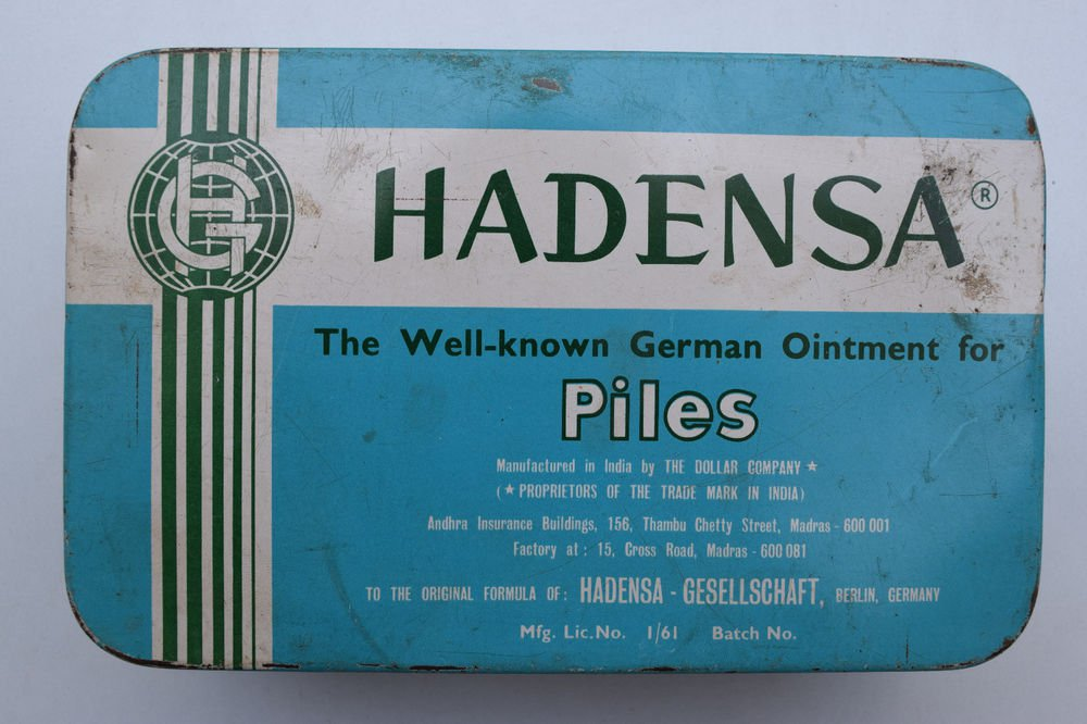 Old Sweets Tin Box, Rare Collectible Litho Printed Tin Boxes India #1343