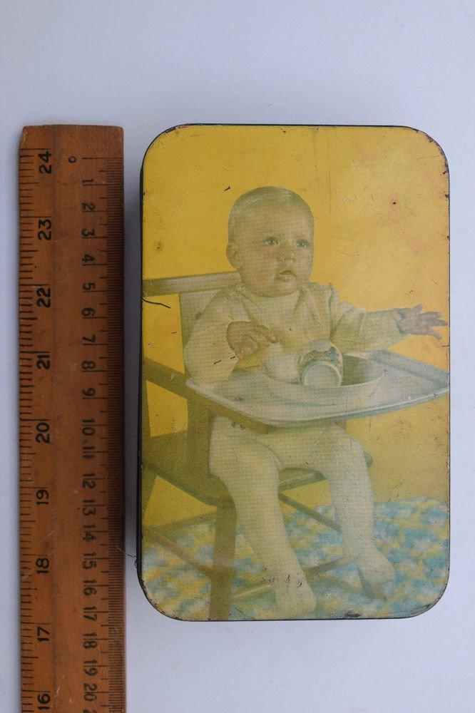 Old Sweets Tin Box, Rare Collectible Litho Printed Tin Boxes India #1334