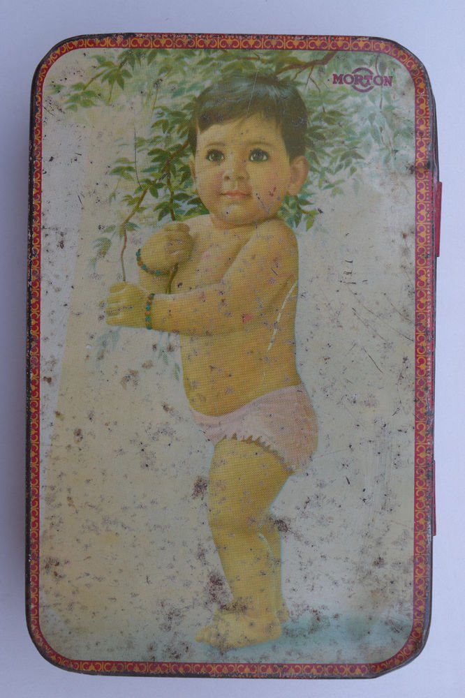 Old Sweets Tin Box, Rare Collectible Litho Printed Tin Boxes India #1333
