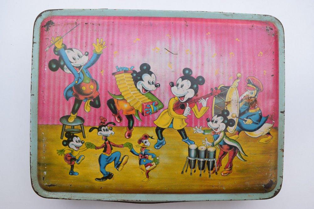 Old Sweets Tin Box, Rare Collectible Litho Printed Tin Boxes India #1339