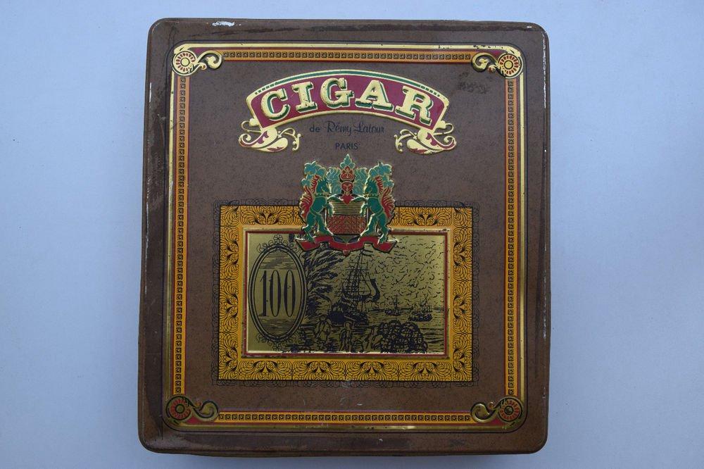Old Sweets Tin Box, Rare Collectible Litho Printed Tin Boxes India #1340