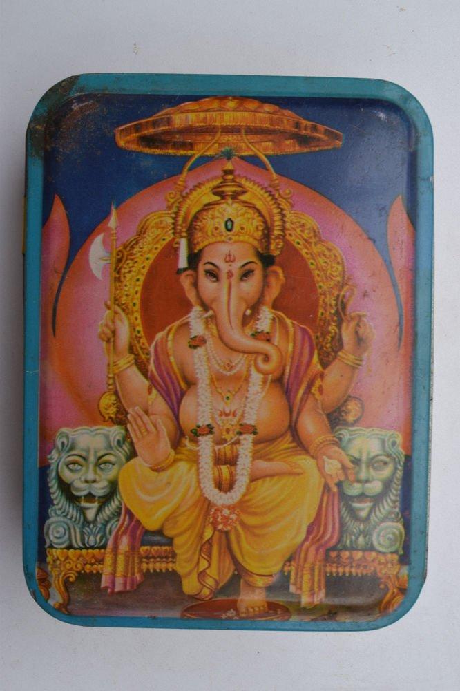 Old Sweets Tin Box, Rare Collectible Litho Printed Tin Boxes India #1399