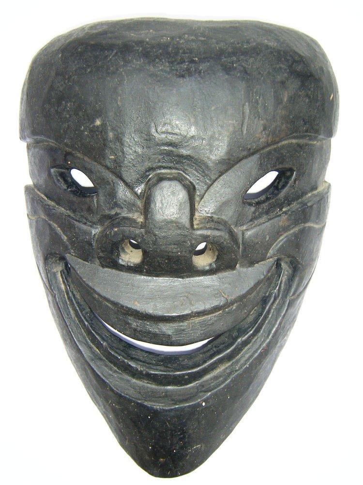 Tribal Wooden Mask, Old Rare Hand Coloured Handmade Original African Mask  #1587