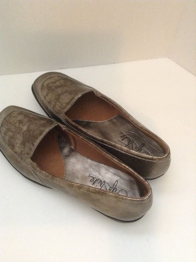 Life Stride Dare Women's Pewter Metallic Loafer SZ 6.5 M  Loafer Shoes